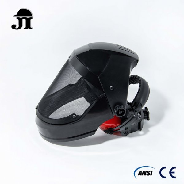 Wire Mesh Full Face Protector combo set with ear muff
