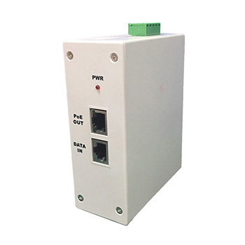 Industrial DIN RAIL MOUNT Gigabit PoE Injector, AC100-350V INPUT, 56V 60W 4 pairs output