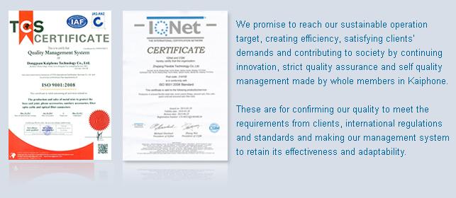 Quality Policy - Kaiphone Technology Co., Ltd.